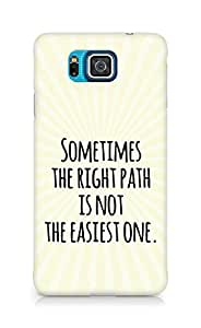 AMEZ the right path is not easy Back Cover For Samsung Galaxy Alpha