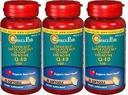 Puritan's Pride Puritans Cardio Q-10 Super Potency Q-sorb Q-10 400 Mg 3 Pack