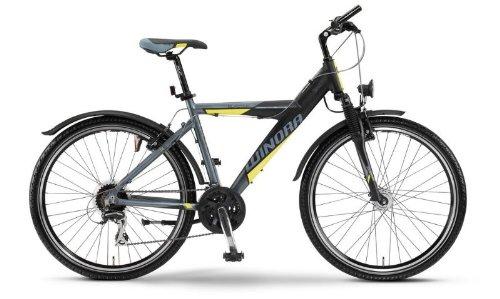 Mod.12 Winora Blaster Y MTB - Jugend Mountainbike - Rad 26 Zoll, 24-Gang Bike anthrazit/schwarz/gelb RH 46 UVP: 399,00 Euro