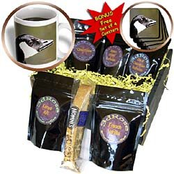 SmudgeArt Bird Artwork Designs - Canada Goose - Bird Photography - Coffee Gift Baskets - Coffee Gift Basket