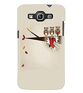PrintDhaba Owls D-4410 Back Case Cover for SAMSUNG GALAXY WIN i8552 (Multi-Coloured)