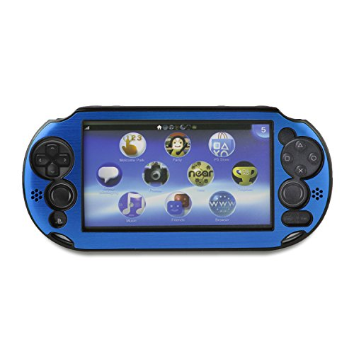 YUYIKES Hard Aluminum Metal Case Cover for Sony PlayStation PS VITA 2000 (Dark Blue) (Ps Vita 2000 Case compare prices)