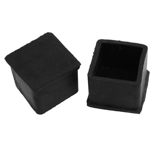 Furniture Review Amico 10 Pcs 30mm X 30mm Furniture Foot Protector Square Rubber Covers Black