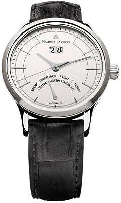 Maurice Lacroix Les Classiques Jours Retrograde Automatic Silver Dial Mens Watch LC6358-SS001-13E