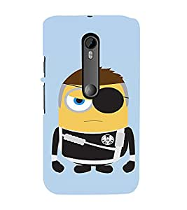 EPICCASE One Eyed Minion Mobile Back Case Cover For Moto X Play (Designer Case)