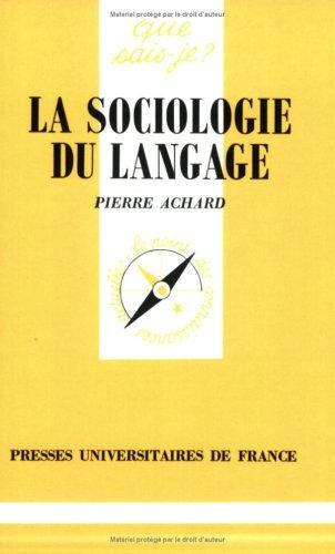 La sociologie du langage