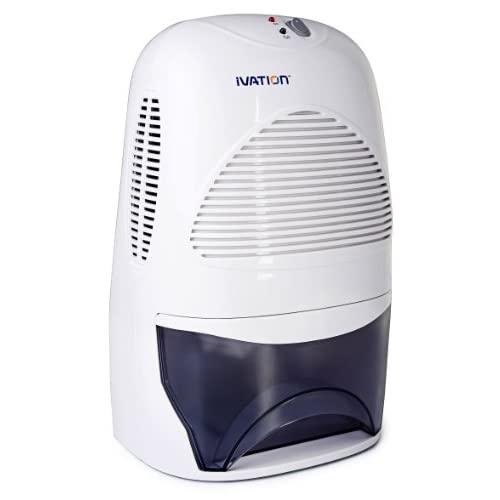 Ivation IVADM35 Powerful Mid-Size Thermo-Electric Dehumidifier - Quietly Gathers Up To 20 Ounces of Water Per Day - for Bath Room, Basement, Attic, Boats, Rv Ect - for Spaces Up To 2,200 Cubic Feet
