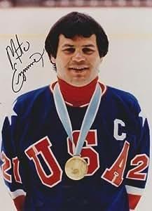 MIKE ERUZIONE Team USA 1980 Olympic Hockey SIGNED 8x10 - Autographed