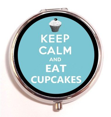 Keep Calm Eat Cupcakes Parody Carry On Baker Trinket Box Pillbox Pill Box Case
