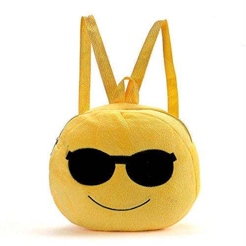 Carina Emoticon Emoji zaino, Sharondar Cute Cartoon Sacchetto di spalla scuola bambino Satchel Zaino Borsa 092 (26.5 * 29cm, F)