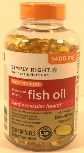 Simply right triple strength all natural enteric omega 3 for Viva naturals triple strength omega 3 fish oil