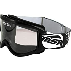 MSR Racing Standard Adult Motocross Motorcycle Goggles Eyewear - Black