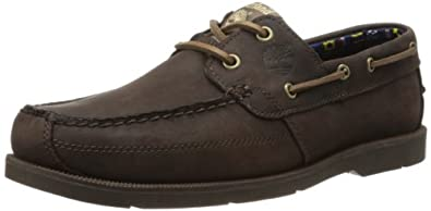 Timberland Men's Earthkeepers Kiawah Bay Boat Shoe,Dark Brown/Brown,7 M US