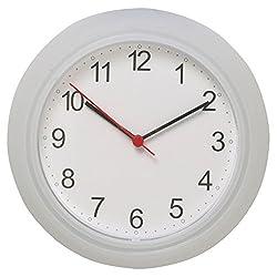 Ikea Wall Clock, White, Clear