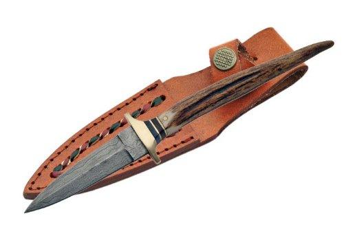 New Real Damascus Steel Boot Knife Dm1030