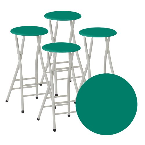 Best Of Times Bar Stools Dark Green Set Of 4 Furniture