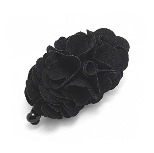 meilliwish-flowers-rose-hair-clip-ponytail-holderh41black