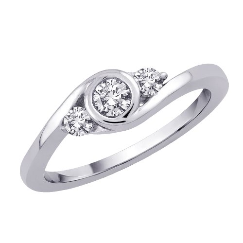3 Cubic Zirconia Promise Ring 1/4 ct. in Sterling Silver