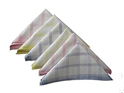 Milano 100% cotton Ladies hankies (6 pcs)