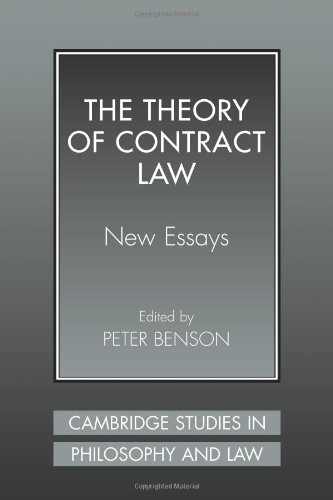 The Theory of Contract Law: New Essays (Cambridge Studies in Philosophy and Law) PDF
