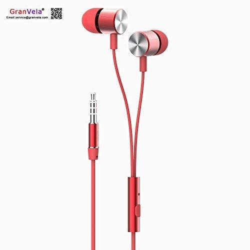 GranVela N2 bassi 3,5 mm Stereo In-ear, Cuffie auricolari con microfono, In pelle, per iPhone, Android