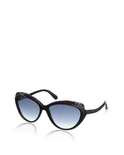 Alexander McQueen Women's Sunglasses, Black Burgundy