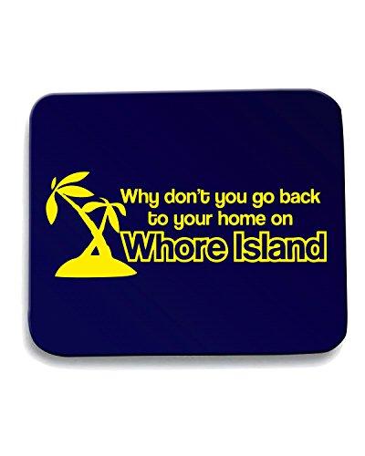 Cotton Island - Tappetino Mouse Pad FUN0572 ANCHORMAN WHORE ISLAND SKY MENS cu 4 1, Taglia taglia unica