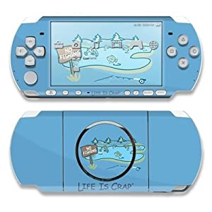 No Fishing Design Decorative Protector Skin Decal Sticker for Sony PSP 3000