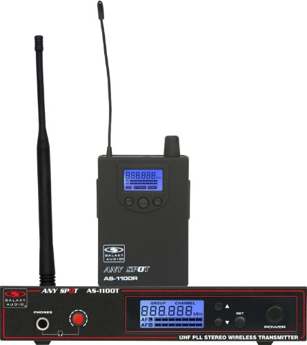 Galaxy Audio As-1100-D Audio Personal Wireless Stage Monitoring System, Frequency 584-607 Mhz front-243467