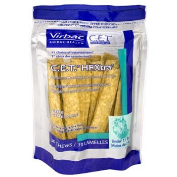 C.E.T. HEXtra Premium Oral Hygiene Chews (with Chlorhexidine) for Large Dogs (26-50 Pounds)