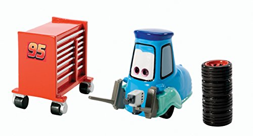 Disney/Pixar Cars Pit Crew Guido with Tires & Tool Cart Diecast Vehicle - 1
