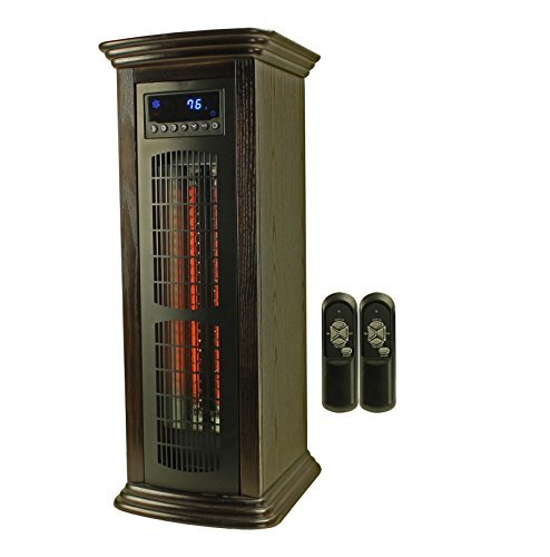 Lifesmart Ls-1003Hh 1800 Sq Ft Infrared Quartz Electric Portable Tower Heater Heats A Room Up To 1800 Square Feet Injection Molded Plastic Cabinet; User-Friendly Controls With Large Led Display Built-In Fan Circulates Air Through The Heater And Into The A