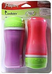 Playtex Coolster Twist \'n Click,BPA Free,Leak Proof,12 Months,2 Count, Color Varies
