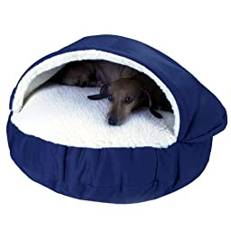 Snoozer Cozy Cave, Navy, X-Large