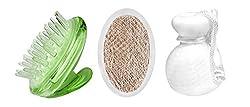 PANACHE Hair Shampoo Massager,Natural Vetiver Bath Scrubber & Face Wash Roll, Beauty, Bath & Shower, Bathing Accessories, Hair, Loofahs, Face.