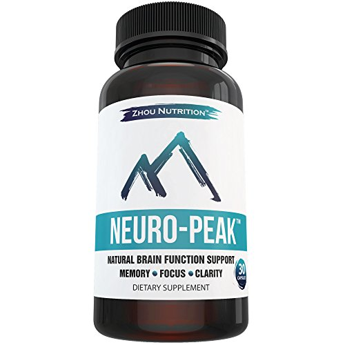 Natural Brain Function Support for Memory, Focus & Clarity - Mental Performance Nootropic - Physician-Formulated To Provide Optimum Blend Of St. John s Wort, DMAE, L-Glutamine & More