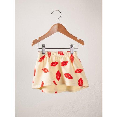2014SS BOBO CHOSES ボボショセス リップ柄 Mini Skirt 2-3歳