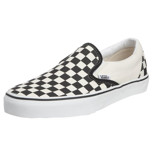 Vans Unisex-Adult Classic Slip-on Black And White Checker/White Trainer VEYEBWW 15 UK