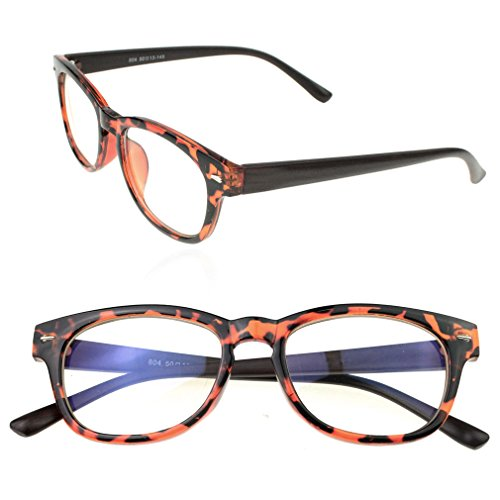 Marrywindix Fashion Unisex Computer Glasses- Anti-reflective ,Anti-glare ,Clear Lens, Uv Protection (Amber)