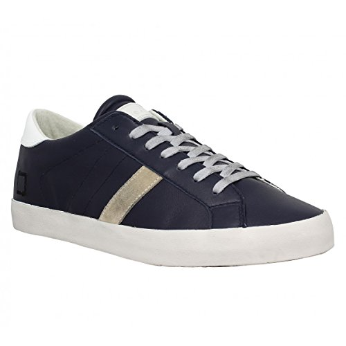 D.A.T.E. HIKK LOW NAPPA A241 BLUE SNEAKERS Uomo BLUE 42