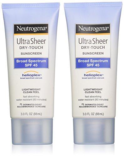 Neutrogena Ultra Sheer Drytouch Sunscreen, SPF 45, 3 Ounce (Pack of 2)