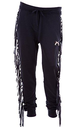 Philipp-Plein-pantalon-femme-sport-jumpsuit-original-frange-noir