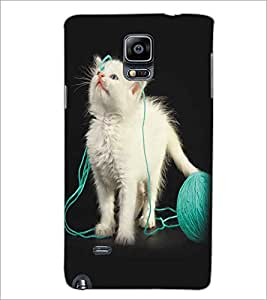SAMSUNG GALAXY NOTE 4 CUTE CAT Designer Back Cover Case By PRINTSWAG