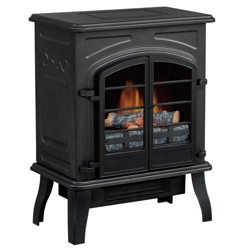 Yosemite Home Decor DF-EFP115 18-Inch Bozeman Electric Fireplace Stove with Faux Wood Logs image B009YTU3CI.jpg