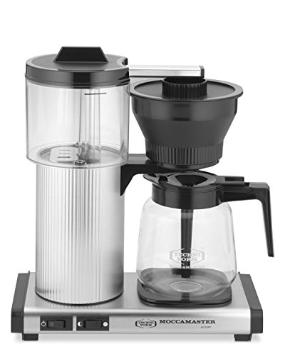 Technivorm Moccamaster Coffee Maker With Glass Carafe Brushed Silver : Moccamaster CD Grand 15-Cup Coffee Brewer with Glass Carafe, Brushed Silver - Coffee Pigs