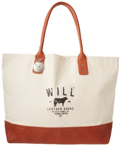 Will Leather Signature Utility Tote,Natural,One Size
