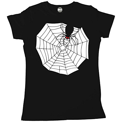 Batch1 Women's Halloween Spooky Spider Web Printed Cobweb Fancy Dress T-Shirt