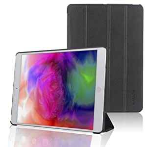 Kamor Ultra Slim iPad Air Smart Case Cover with Stand / Auto Sleep Wake-up for Apple iPad Air / iPad 5 (Top Premium PU Leather, Folded Cover Design, Black)