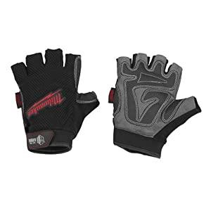Milwaukee 49-17-0122 Fingerless Work Gloves Large