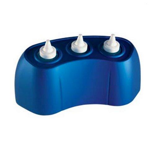 Pure Electric Gel/Lotion Bottle Warmer - 3 Bottles - Metallic Blue